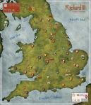 """Richard III, 36""""x36"""" Deluxe Neoprene Map"""