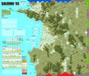 Salerno '43 Mounted Map