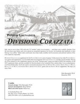 Panzer Grenadier: Divisione Corazzata