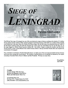 Panzer Grenadier: Siege of Leningrad