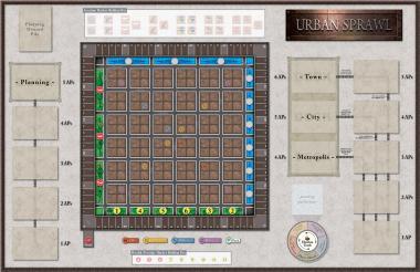 Urban Sprawl, Mounted Map