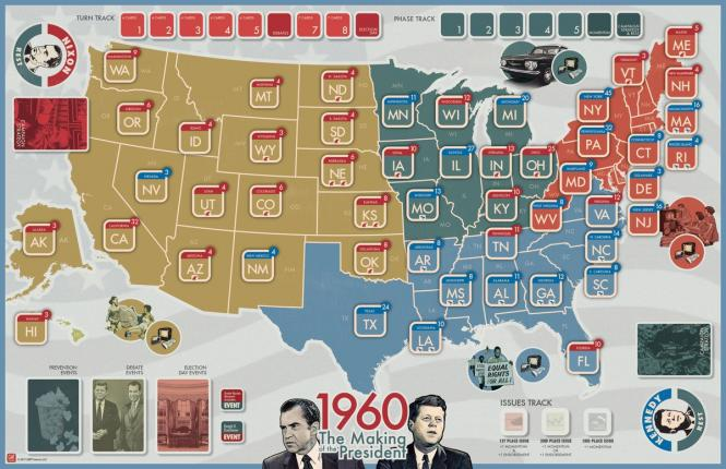 1960: The Making of the President, Mounted Map
