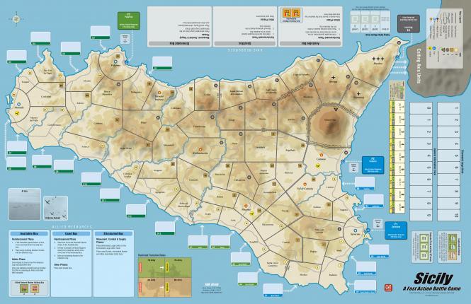 FAB #2: Sicily Mounted Mapboard