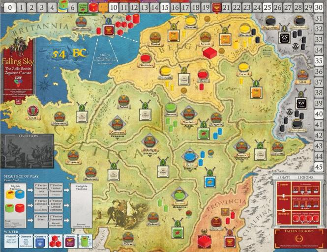 Falling Sky: The Gallic Revolt against Caesar, Mounted Map