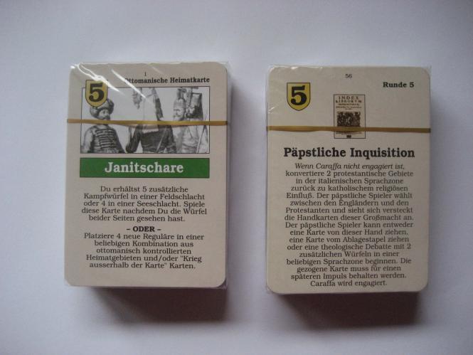 Here I Stand: Deutscher Kartensatz (erste Ausgabe)