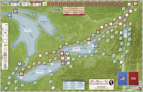 Mr. Madison`s War - Mounted Map