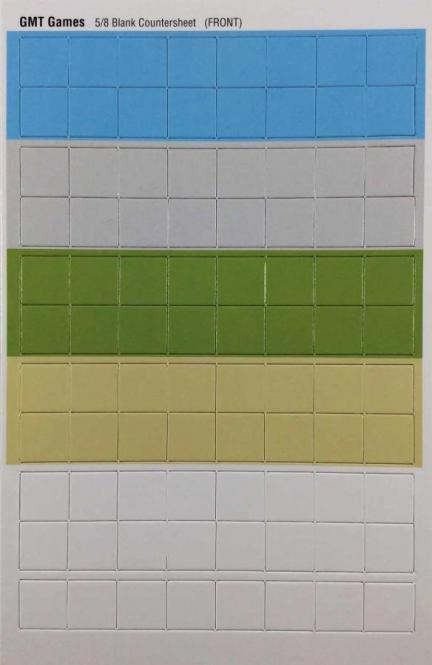 Blank Counter Sheet 5/8 Inch, Colored