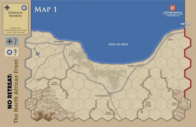 No Retreat 2: The North African Front, Mounted Maps