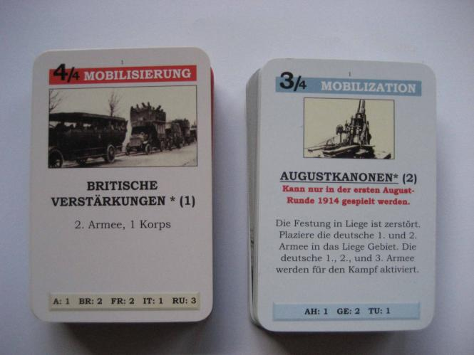 Paths of Glory Set of German cards