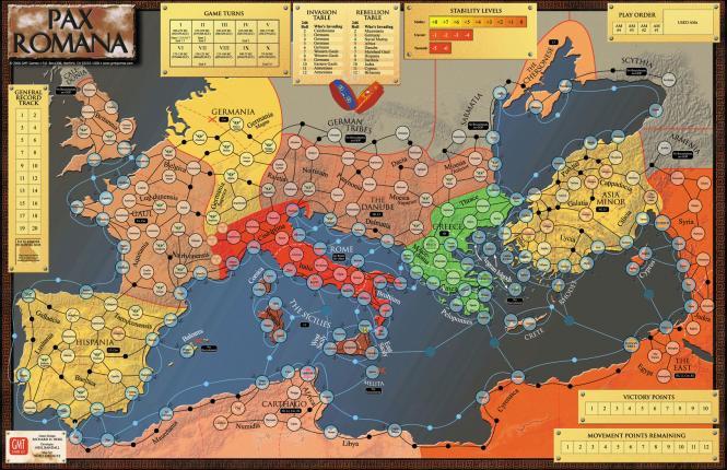 Pax Romana, Mounted Mapboard