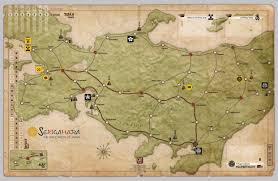Sekigahara, Mounted Map