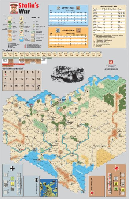 Stalin`s War Mounted Mapboard