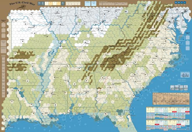 The US Civil War, Mounted Maps