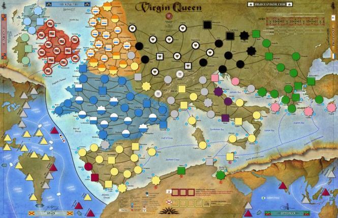 Virgin Queen, Mounted Map